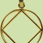 Narcotics Anonymous Service Symbol Open Pendant 1 inch