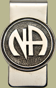 1142 Money Clip w Narcotics Anonymous Logo