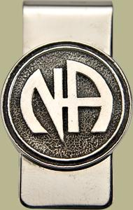 1142 Money Clip w Narcotics Anonymous Logo