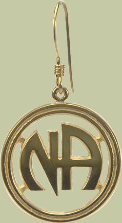 NA Logo Earrings with Open Design
