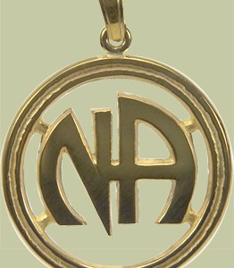 1191 1 in Narcotics Anonymous Logo Open Pendant