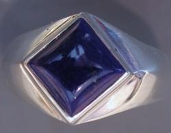 1530 Cabbed NA Servic Symbol Ring wLapis Lazuli