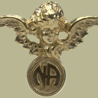 2042 Cherub w Narcotics Anonymous Logo