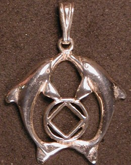 2061 Double Dolphin NA Service Symbol Pendant