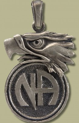 2082 Eagle w Narcotics Anonymous Logo