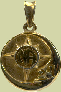 Sun-Moon w Narcotics Anonymous Logo Pendant-