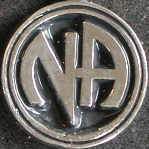 1165A Anklet w3/8in Narcotics Anonymous Logo Charm Open