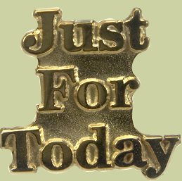 1262 Just For Today Lapel Pin