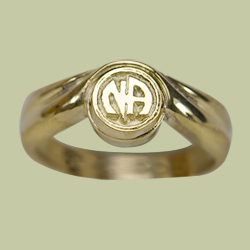 1512 Offset Ring w Narcotics Anonymous Logo