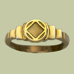 1521 Stepped Ring w NA Service Symbol