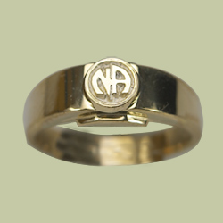 1552 Flat Band w Narcotics Anonymous Logo