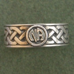 1612 Celltic Ring w Narcotics Anonymous Logo