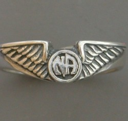 1632 Wing Ring w Narcotics Anonymous Logo