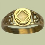 1651 Scroll ring w NA Service Symbol