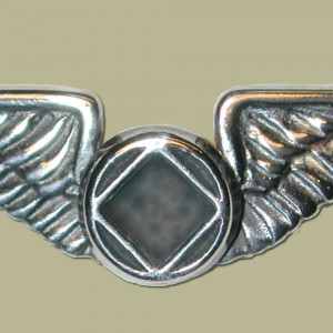 2111L Lapel Pin Wings w/NA Service Symbol
