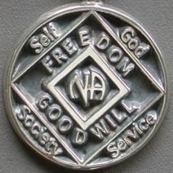 1201 NA Anniversary Medallion Lapel Pin Silver