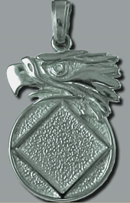 2083 Large Eagle Head with Service Symbol